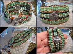 Beaded Leather Cuff Bracelet www.eyegotchacovered.info  #EGCdesign #BohoChic #SouthwestInspired #Love #DesignYourOwnLife