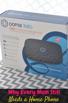 Even in a world where everyone has a cell phone, every mom still needs a home phone. With Ooma telephone service, it's not only affordable, but free! (ad)