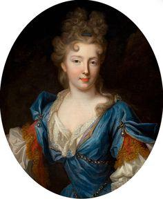 Attributed to PIERRE GOBERT (French, 1659-1741). Françoise-Marie de Bourbon