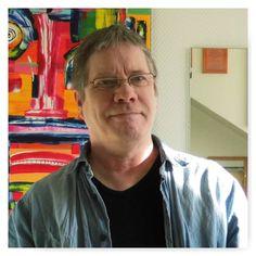 Det er farverige kubistiske abstrakte malerier jeg maler. Jeg begyndte at male i min pure ungdom (1969), efter et ferie ophold hos min onkel Per Olander, som lærte mig at rive pulverfarver med linolie og terpentin. Per var en kæmpe læremester for mig, og jeg elskede alle hans malerier fra grønland og andre steder i verden. Han lærte mig alt det grundlæggende ... at sammensætte et billed, med lys, kontrast og dybde.