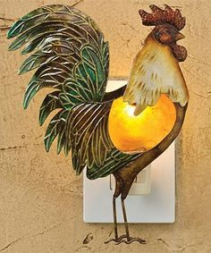 Rooster Night Light - Holt Bros. Mercantile