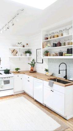 Home Decor Kitchen, Interior Design Kitchen, New Kitchen, Smart Kitchen, Kitchen Storage, Kitchen Small, Kitchen Designs, Hidden Kitchen, Cabinet Storage