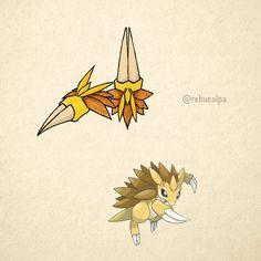 No. 028 - Sandslash. #pokemon #sandslash #claws #pokeapon