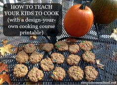 FREE Design Your Own Homeschool Cooking Course Printables Set!