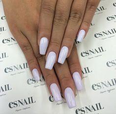 Lilac acrylics.