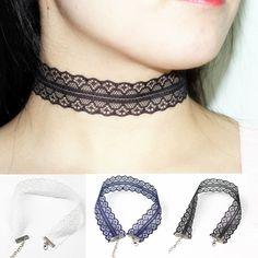 블랙 레이스 choker 목걸이 패션 여성 보석 보헤미안 펑크 고스 고딕 목 칼라 손으로 만든 x61