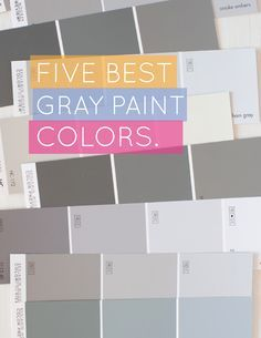 Pashmina – Gives you just enough color on the wall. It's a true gray that doesn't go blue or green. Revere – An almost white color with the perfect hint of gray. Chelsea – This is Kim's favorite go to for darker grays. A real standout. Sparrow – A good choice for a room where you want to make a statement. Any contrasting color works with this. Dolphin – Beautiful choice for kitchen cabinets.