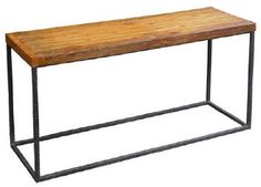 Luke Console Table with Reclaimed Teak Top and Hand Hammered Iron Base Reclaimed Teak Will Include Cracks, Uneven Edges and Varations in Patina Due to Nature of Reclaimed Wood Cannot Customize.