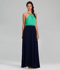 Gibson & Latimer Halter Colorblocked Maxi Dress | Dillard's Mobile