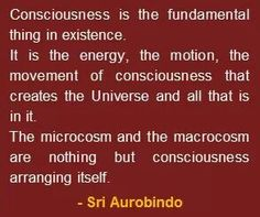 """A quote on consciousness, by Sri Aurobindo, taken from his book """"Letters on Yoga – Volume Spiritual Awakening, Spiritual Quotes, Quantum Consciousness, Higher Consciousness, Sri Aurobindo, Eastern Philosophy, Spiritus, Quantum Mechanics, Quantum Physics"""