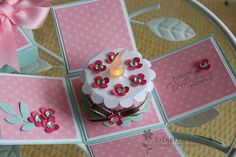 Stampin' 'n Stuff: Create a Cupcake - the suprise in this box is adorable! Tea Light Candles, Tea Lights, Card In A Box, Exploding Box Card, Fancy Fold Cards, Card Tutorials, Pop Up Cards, Scrapbook Cards, Scrapbooking
