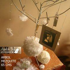 Arbol Mezquite c/piedras acrilicas, marquito, bombonetas