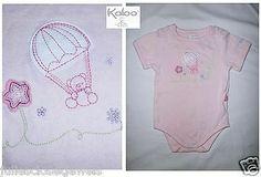 LTD ED Authentic Designer Kaloo Lilirose Baby Girl Pink Bear Balloons Bodysuit 6M 67cm *RARE*
