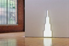 Dan Flavin at Dia: Beacon. Photo by Felicity Miller. Dan Flavin, Beige, Grey, Neon, Sculpture, Spaces, Lighting, Dark, Sculptures