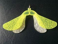 Laser-cut and etched Sycamore Seed Perspex Pendants Etsy