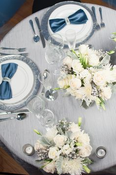 Grey, Silver and Blue Wedding Inspiration| Photo by: sherrysutton.com