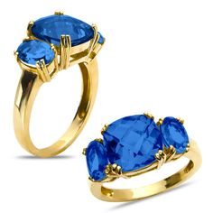 Etsy NissoniJewelry presents - Created Sapphire Fashion Ring in 10k Yellow Gold    Model Number:CG-4897Y0CSA    https://www.etsy.com/ru/listing/275600380/created-sapphire-fashion-ring-in-10k