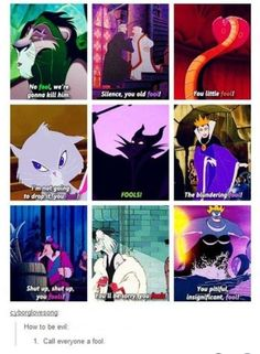 Disney villains favor one specific insult. | Community Post: 9 Clever Fan Theories In Disney Movies That Tumblr Users Noticed