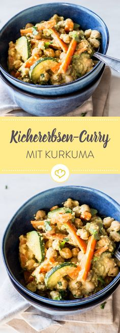 Viele köstliche Aromen treffen in diesem leckeren Curry aufeinander. Kichererbs… Many delicious flavors meet in this delicious curry. Chickpeas, vegetables and all sorts of spices frolic in a nutty almond sauce. Veggie Recipes, Vegetarian Recipes, Healthy Recipes, Whole30 Recipes, Healthy Lunches, Pizza Recipes, Vegan Vegetarian, Baking Recipes, Easy Recipes