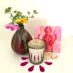 Love, Beauty, Abundance altar with Lakshmi sacred square. Join the Tiny Altar list for 20% off: eepurl.com/0IY3H