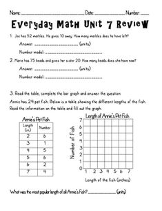 math worksheet : this edm second grade unit 5 review can be used as a review  : Everyday Math 4th Grade Worksheets