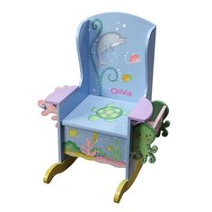 Wooden Potty Chair - Under The Sea