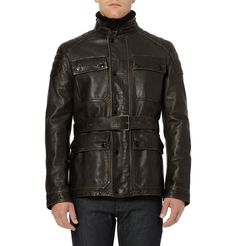Burberry Brit Leather Motorcycle Jacket | MR PORTER