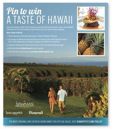 Pin to Win a Taste of #Hawaii With @Hawaii !  Find out more: http://bonap.it/10aZnA3 #gohawaii