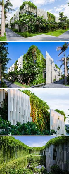 This New Resort Spa Is Covered In Hanging Gardens - MIA design Studio