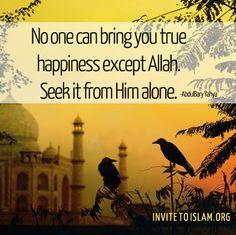 Seek Him alone....