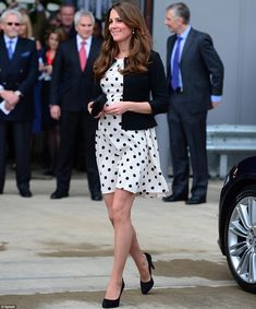 Wizard day out: The pregnant Duchess of Cambridge arrived at the Harry Potter film studios in a dress from Topshop. April 26, 2013