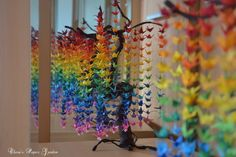 Guide on How to Create a Colorful Rainbow DIY Crane Curtain [Video Detailed Instructions]