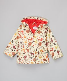 Look at this Powell Craft Cream & Brown Woodland Raincoat - Infant & Kids on #zulily today!