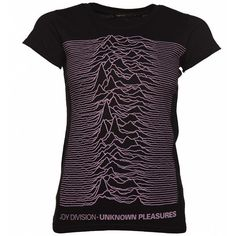 Women's Black Joy Division Unknown Pleasures T-Shirt (€18) ❤ liked on Polyvore featuring tops and t-shirts