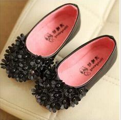 Designer Black Princess Birthday Shoes