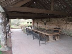 Rustic Outside Eating area Country House Interior, Outdoor Tables, Outdoor Decor, Herefordshire, The Outsiders, Outdoor Furniture, Rustic, Traditional, Garden