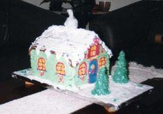 Bolo Casa do Papai Noel