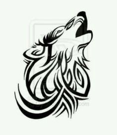 Lone Wolf Tattoo by ~DyCh on deviantART. I just like it cause it looks cool and is tribal Wolf Tattoos, Tribal Tattoos, White Feather Tattoos, Lone Wolf Tattoo, Tribal Wolf Tattoo, Small Wolf Tattoo, Tattoos Skull, Body Art Tattoos, Sexy Tattoos