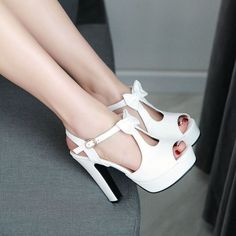 Be cute and fashion with this bow high heel shoes, this shoes come with plus size CN43 and with four colors, go to get the one you like. Gender: Women's Occasion: Casual,Club,Street,Prom Styles: Heel