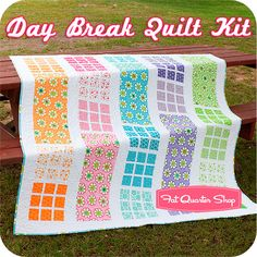 A Quilting Life: Day Break pattern sample - need this pattern.  Kit and pattern available at Fat Quarter Shop