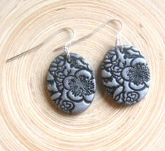 Silver earrings Asian floral minis handmade jewelry by theshagbag, $8.95
