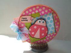 DoubleClick - AKA Abusybee: Happy Birthday! Circle Ladybug Card!