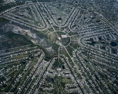 Decoding the hidden circles of suburbia: Photographer takes stunning pictures of America's urban sprawl from the sky.