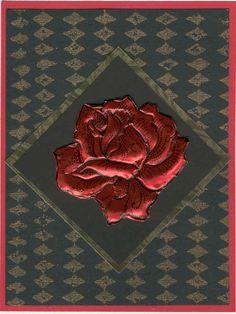 Metal embossed rose