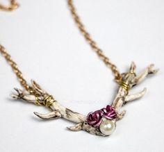 Hirschgeweih Kette :) #fimo #polymerclay #selfmade #charm #handmade #winter #diy