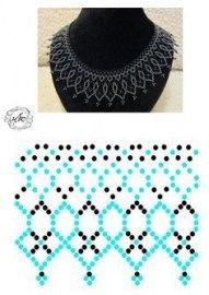 Jewerly diy necklace simple ideas for 2019 - Halskette Ideen Diy Necklace Patterns, Beaded Jewelry Patterns, Beading Patterns, Lace Necklace, Simple Necklace, Beading Projects, Beading Tutorials, Bead Jewellery, Jewelry Tree