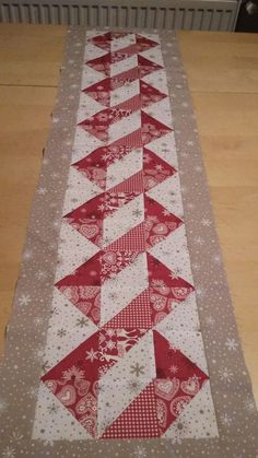 Table Runner Christmas in Gray and Red – Patchwork Mountain Table Runner Nordic x This Christmas table runner has fun Scandinav. Handmade Quilts for Your Home Gallery of Sold Items Quilted Table Runners Christmas, Patchwork Table Runner, Christmas Patchwork, Christmas Runner, Table Runner And Placemats, Crochet Christmas, Quilted Table Runner Patterns, Quilt Table Runners, Modern Table Runners