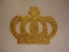 30 coroa em eva com glitter 5 x 6 cm