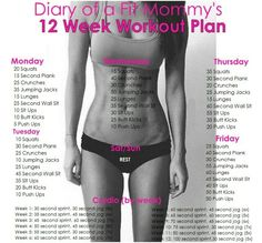 12 week workout plan