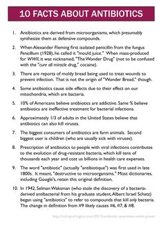 10 facts about antibiotics. Mildly fun. Mildly subversive.  That's just the way I like it. http://colinpurrington.com/2013/evidence-based-antibiotic-usage/